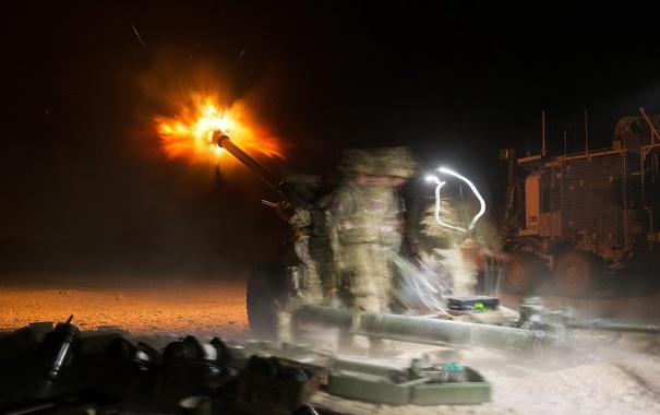 Фото обои 105mm, L118, light artlillery