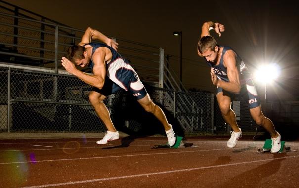 Фото обои старт, бег, спорт