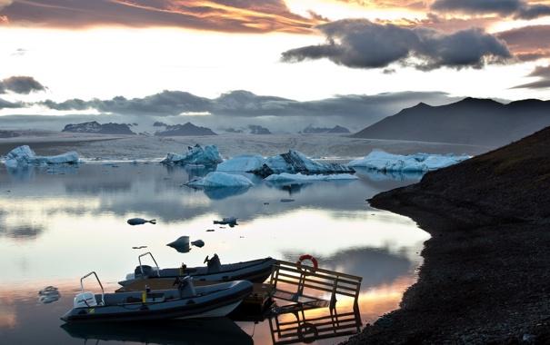 Фото обои море, пейзаж, лодки