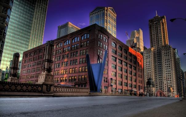 Фото обои город, небоскребы, мемориал, улица