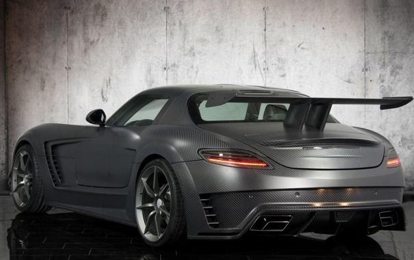 Фото обои авто, тюнинг, Mercedes-Benz, спойлер, SLS, carbon, задок