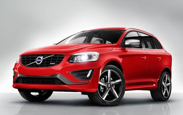Фото обои машина, Volvo, передок, вольво, R-design, XC60