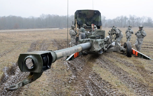 Фото обои пушка, Soldiers, U.S. Army, M777A2, 155 mm