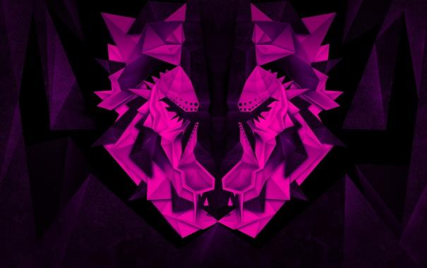 Фото обои кот, космос, абстракция, тигр, by Khyzyl Saleem