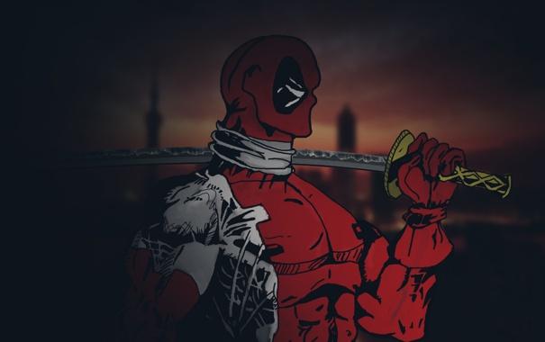 Фото обои Deadpool, Marvel, Дэдпул, суперзлодей