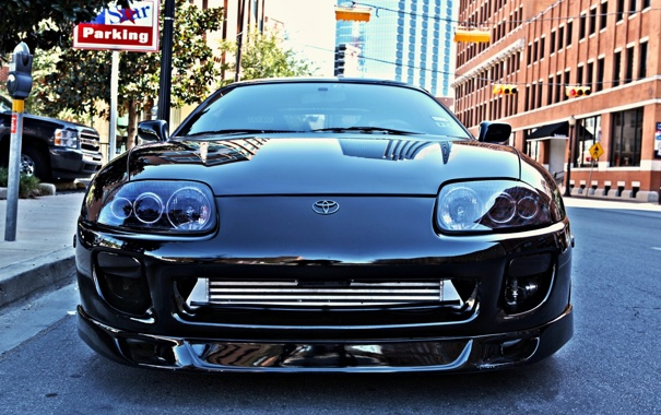 Фото обои toyota supra, cars walls, blac, wallpapers auto, auto, toyota, cars