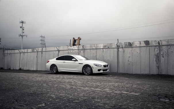 Фото обои BMW, white, tuning, 640i, F13, Giovanna