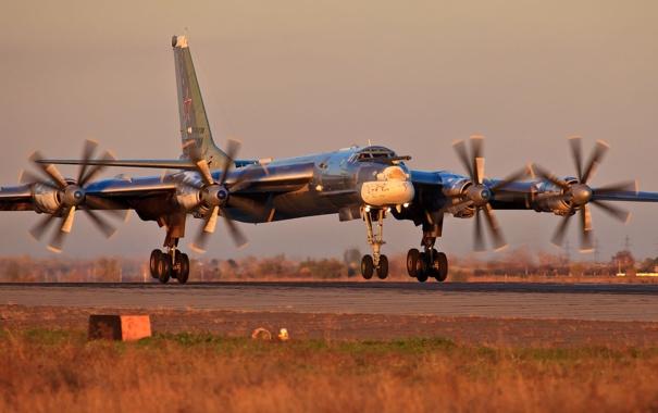 Фото обои Самолет, Бомбардировщик, Ту-95