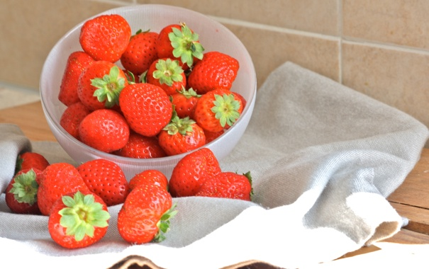 Фото обои фон, widescreen, обои, еда, клубника, ягода, wallpaper
