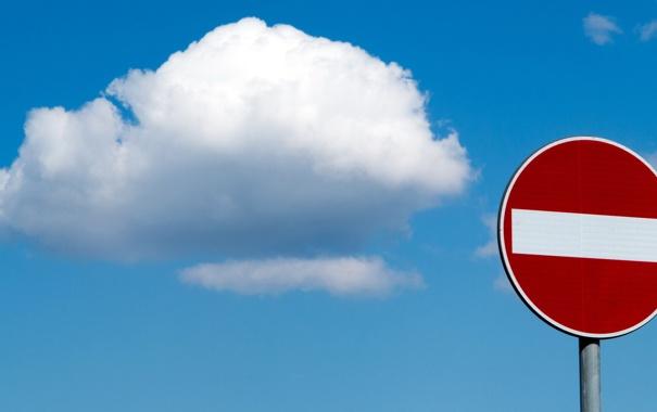 Фото обои небо, знак, облако