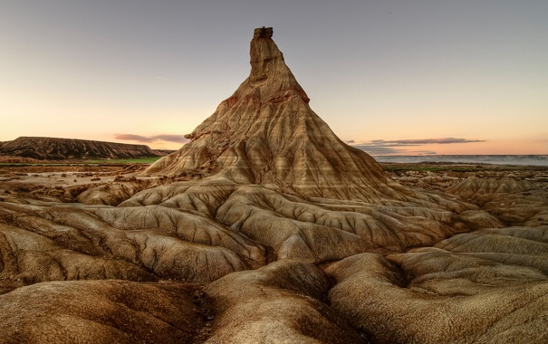Фото обои скала, гора, долина