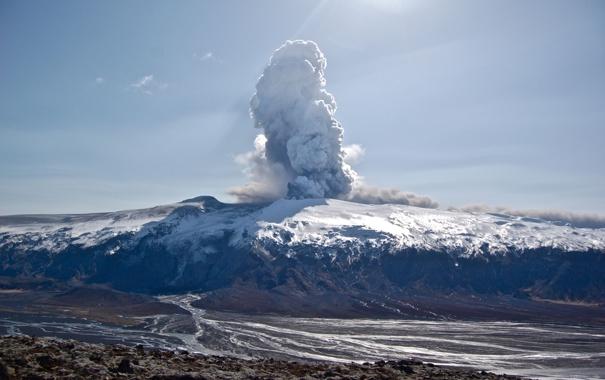 Фото обои пепел, обои, дым, гора, вулкан, лава, wallpaper