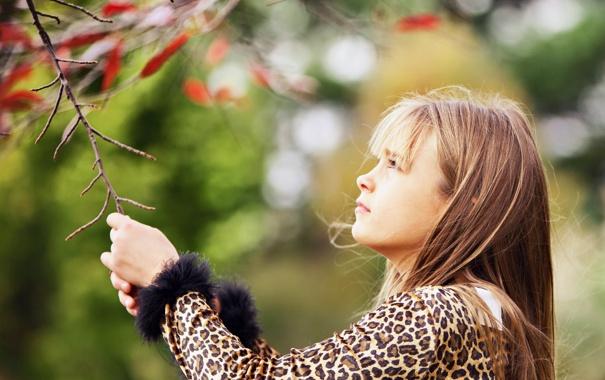 Фото обои природа, фон, девочка