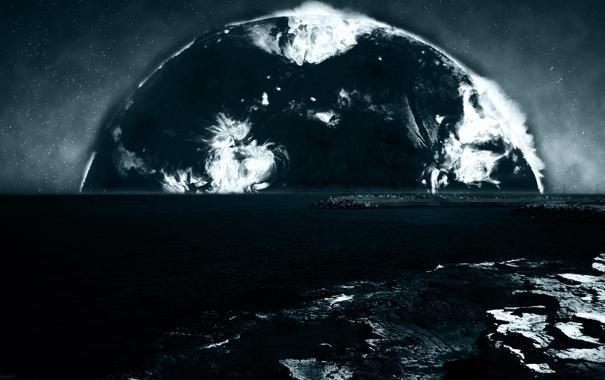 Фото обои italy, Burning Coast, Light in Night