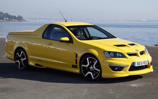 Фото обои желтый, пикап, Vauxhall, VXR8, воксхол, Maloo, малоо