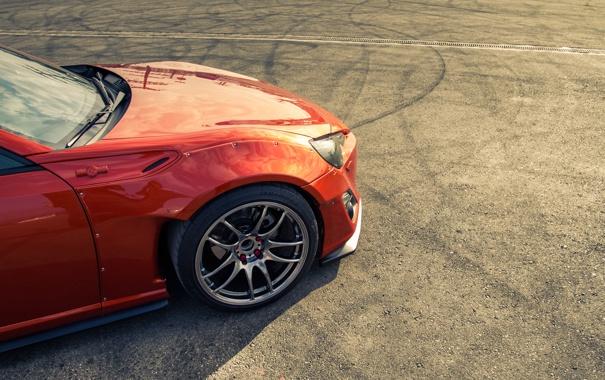 Фото обои Orange, Toyota, GT86, Wheels, Asphalt