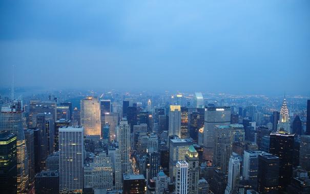 Фото обои город, здания, дома, америка, нью-йорк, небоскрёбы, new york