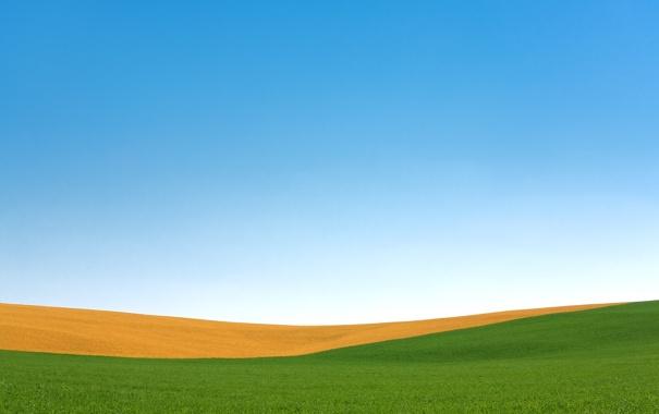 Фото обои поле, осень, небо, Висконсин, США, Пальмира, полосное земледелие