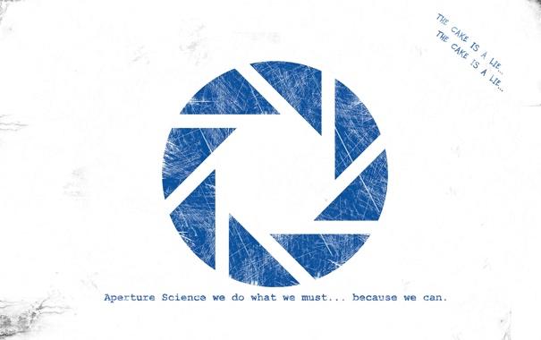 Фото обои надпись, минимализм, логотип, Portal, компания, aperture science