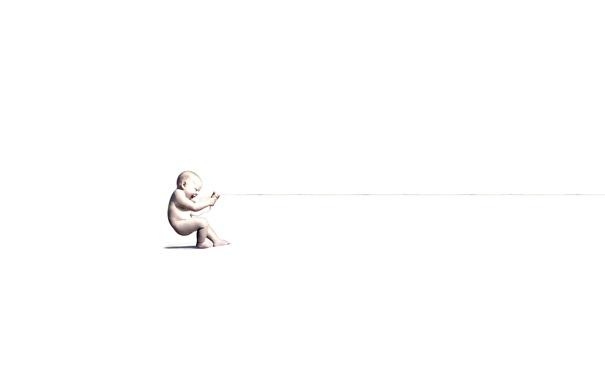 Фото обои белый, улыбка, фон, смех, младенец, пуповина, агу
