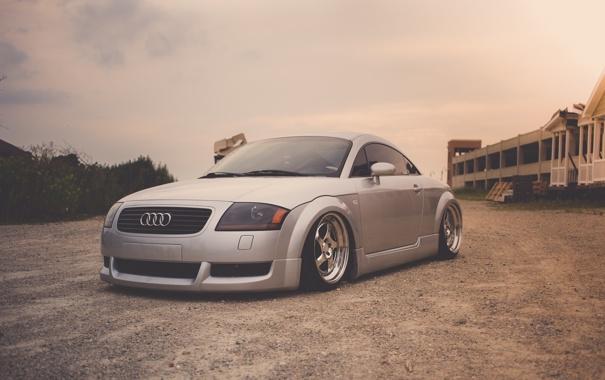 Фото обои Audi, ауди, спорткар, серебристая, stance