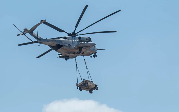 Фото обои полет, CH-53, доставка, Super Stallion