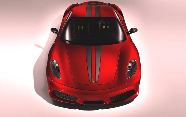Фото обои Красный, Авто, Машина, Феррари, Капот, F430, Ferrari