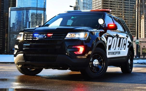 Фото обои Ford, полиция, форд, Police, Interceptor, 2015, U502