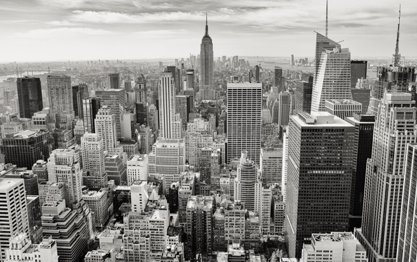 Фото обои city, город, здания, небоскребы, white, мегаполис, bkack