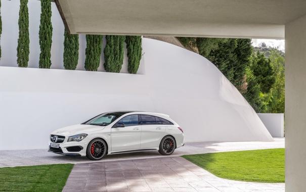 Фото обои Mercedes, мерседес, AMG, амг, Shooting Brake, CLA 45, 2015