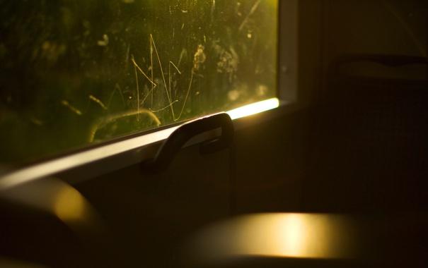 Фото обои сидение, трамваи, стёкла, лето, поезд, трамвай, настроение