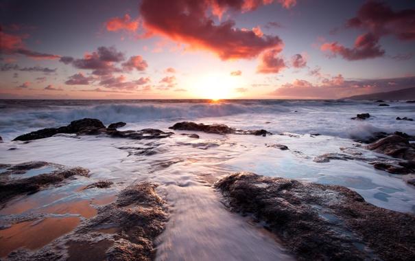 Фото обои море, небо, камни