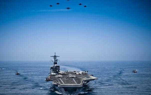 Фото обои море, оружие, USS George H.W. Bush
