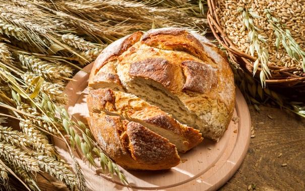 Фото обои хлеб, колосья, выпечка