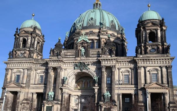 Фото обои Германия, Берлин, Кафедральный собор, Музейный остров, берлинер дом