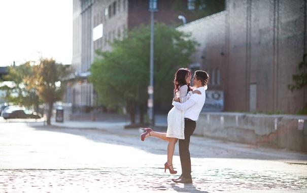 Фото обои город, настроение, улица, свидание