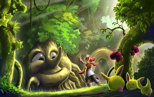 Фото обои лес, волшебный, Seeds For You