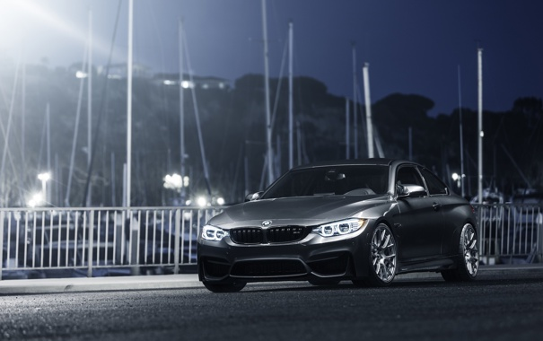 Фото обои BMW, German, Car, Front, Gray, Wheels, Rear