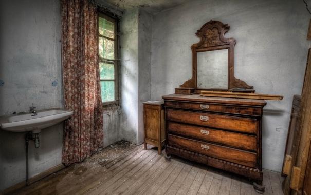 Фото обои комната, раковина, окно
