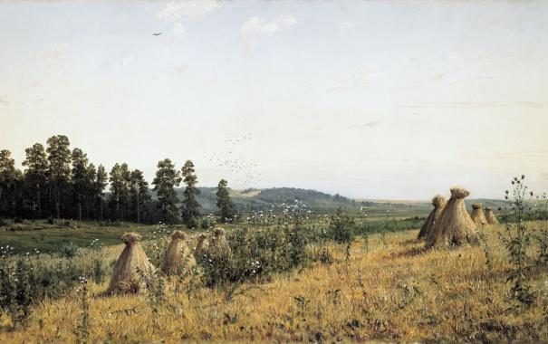 Фото обои Пейзаж Полесья, картина, Шишкин