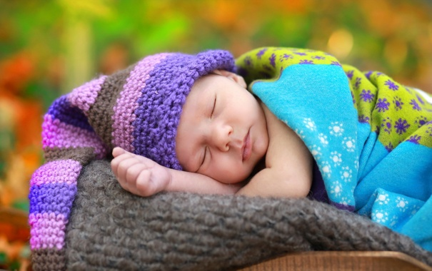 Фото обои фон, сон, младенец