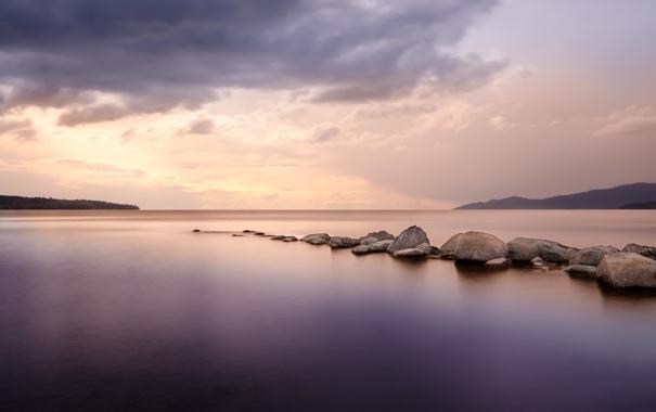 Фото обои пляж, закат, океан, British Columbia, Vancouver, Second Beach