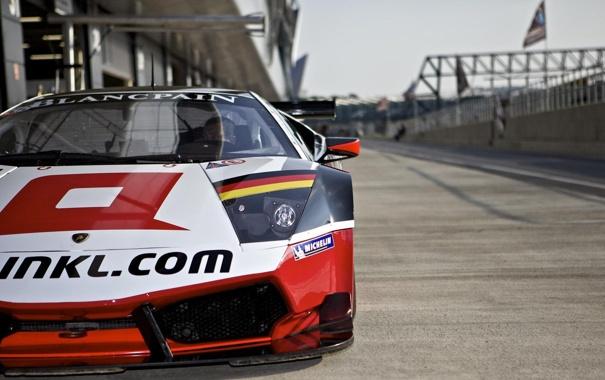 Фото обои Lamborghini, Murcielago, FIA GT1 2011, Silverstone 2011