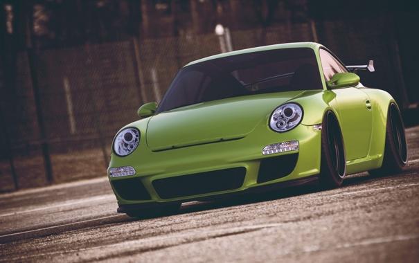 Фото обои дорога, асфальт, 911, Porsche, GT3