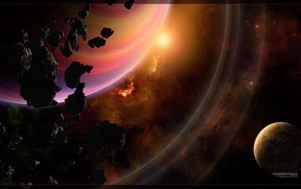 Фото обои астероиды, пояс, юпитер