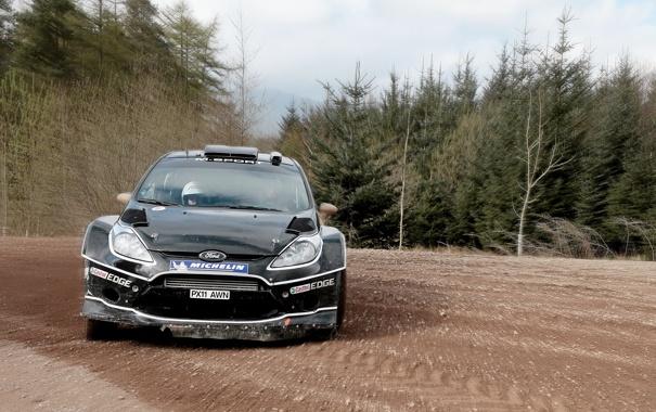 Фото обои Ford, Черный, Фары, Rally, Fiesta, Фиеста, Передок