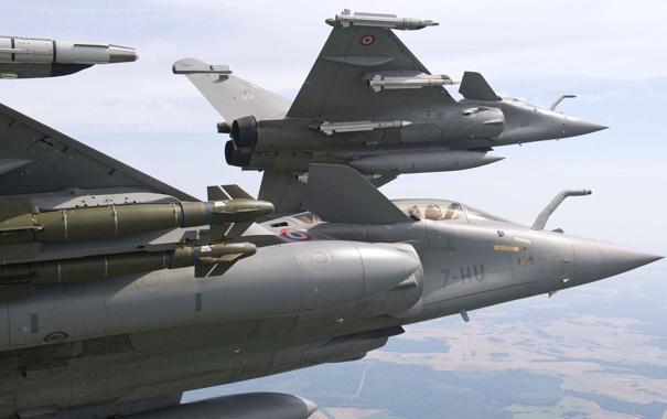 Фото обои поворот, ракеты, пара, Dassault, Dassault Aviation, Rafale, шквал