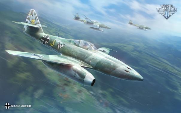 Фото обои Небо, Облака, Самолет, Истребитель, Земля, Wargaming Net, World of Warplanes