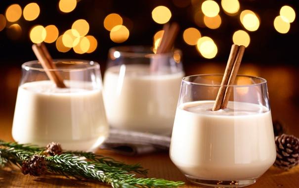 Фото обои зима, праздник, молоко, Рождество, напиток, Happy New Year, Christmas