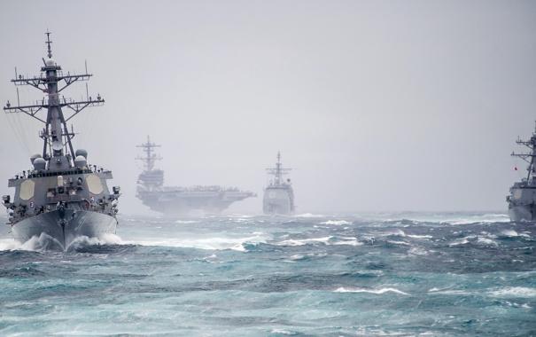 Фото обои Carrier Strike Group, ATLANTIC OCEAN, George H.W. Bush